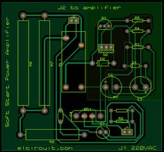Layout PCB Soft Start CIrcuit for Power Supply on Power Amplifier