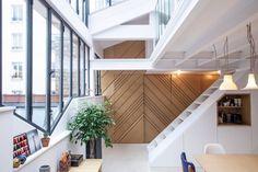 Loft in Paris by Batiik Studio Lofts, Residential Interior Design, Interior And Exterior, Loft Paris, Paris Arrondissement, Living Room Interior, Studio, Scandinavian Style, Minimalism