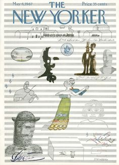 The New Yorker - Saturday, May 6, 1967 - Issue # 2203 - Vol. 43 - N° 11 - Cover by : Saul Steinberg
