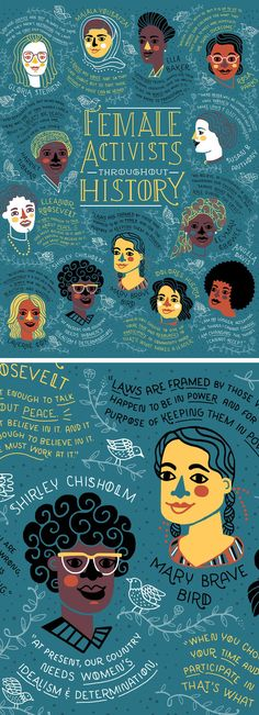 Rachel Ignotofsky | Female Activists Throughout History | illustration of women | female empowerment