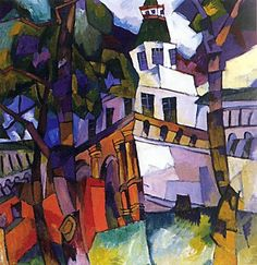 Aristarkh Lentulov (Russian, 1882-1943) - The gate with a tower. New Jerusalem
