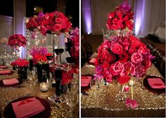 Ask Cynthia Wedding Inspirations Hot Pink And Gold