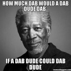 How much dab would a dab dude dab  If a dab dude could dab dude
