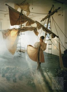 """Play of White"" Caroline Trentini by Tim Walker"