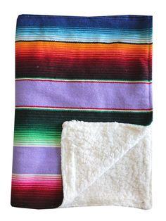 Baja Baby™ Mexican Serape Baby Blanket -Lavender