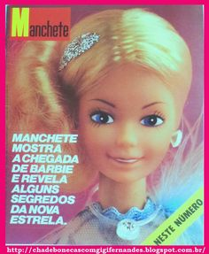 Boneca Barbie Estrela, 1982, Revista Manchete, chegada da Barbie ao Brasil
