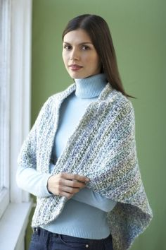 Free Crochet Pattern 80989AD Simply Sublime Shawl : Lion Brand Yarn Company