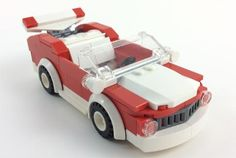 1970's Red and White Convertible