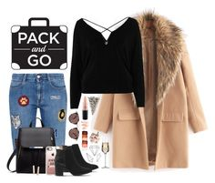 """""""Winter Getaway"""" by sofia-collins8 ❤ liked on Polyvore featuring STELLA McCARTNEY, River Island, Casetify, Office, Oliver Peoples, Links of London, MAC Cosmetics, NYX, Krosno and Umbra"""