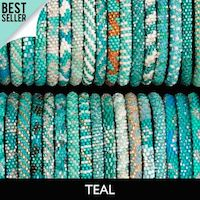 Teal Lily and Laura Bracelets - Nepal