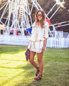 aimee-song-smock-dress-boho-style-lace-up-flat