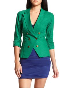 Another recent purchase, green blazer from Charlotte Russe.  I think it'll look so adorable with my leopard loafers.