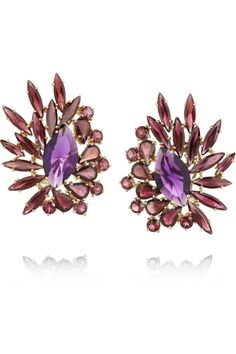 Ana Khouri | Brigitte 18-karat gold, amethyst and rhodonite earrings