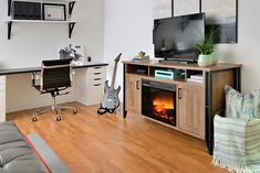A modern basement should create instant comfort and relaxation at home. Media Electric Fireplace, Electric Fireplaces, Modern Basement, Media Unit, Console, Lisa, Relax, Cozy, The Unit