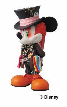 Mickey Mouse Mad Hatter Medicom Mini Figure