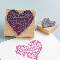 Flowery Heart Stamp by Noolibird