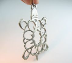 Turtle Pendant. Reed & Barton Pewter. 1970s by bohemiantrading