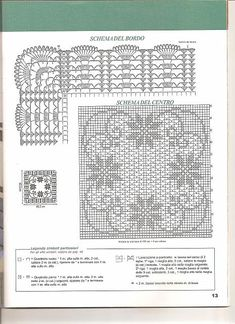 centrotavola filet quadrato 2 Crochet Doily Diagram, Filet Crochet Charts, Crochet Doily Patterns, Crochet Art, Crochet Doilies, Crochet Stitches, Fillet Crochet, Crochet Decoration, Crochet Tablecloth