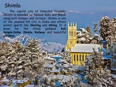 #Shimla  @Getupandgotours Adventure Holiday, Adventure Tours, Hill City, Shimla, Capital City, Winter Sports, Skiing, Exotic, Ski