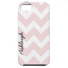 Pink and White Chevron iPhone 5 Cases