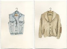 Artist Mark Hall Patch's watercolors of compulsory garments are now available for purchase on Etsy.