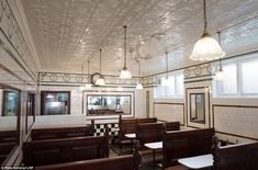 Just look at L. Manze's beautiful interior: Pie and mash shops became a hit in Victorian times thanks to the simplicity of the dish, which meant it could be produced cheaply. Eels were plentiful in the River Thames back then.
