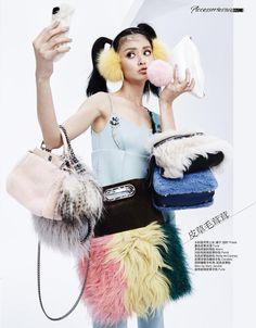 Selfies!: Jaclyn Yang for Cosmopolitan China November 2015 - Prada Fall 2015 dress