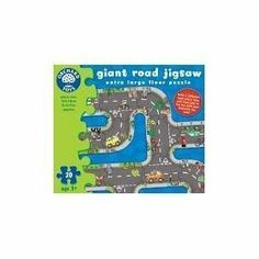 """Giant Road Jigsaw by The Original Toy Company. $21.59. Designed for ages 3 years and older. Design lots of different road layouts using the 20 chunky interchangeable puzzle pieces. Made in England.. Each puzzle piece measures approx. 8.5"""" x 7"""". Build a different road every time and then add to the fun with your favorite toy cars. Designed and manufacturered by award winning company Orchard Toys, this giant roadway jigsaw is a fabulous and fun addition to any child's jigsa..."""