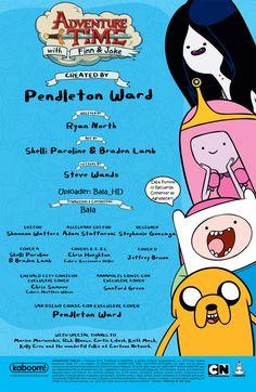 Portada Interior Créditos de Comic #1 Hora de Aventura en Español Latino
