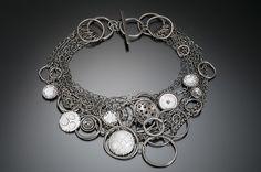 Big, Bold Bib Necklace: Beth Novak: Enameled Necklace   Artful Home