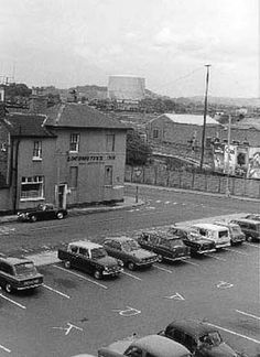Gloucester 1970 Locomotive-Inn and old Leisure Centre car park. Gloucester, Locomotive, Centre, History, Car, Automobile, Historia, History Activities