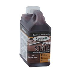 Saman water-based stain is a wiping stain recommended for interior wood furniture and woodworks. It can be applied on all wood species. Water Based Wood Stain, Wood Screen Door, Container Size, Ace Hardware, Semi Transparent, Wood Species, Wood Furniture, Whiskey Bottle, Woodworking