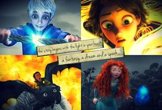 Jack, Rapunzel,Merida, and Hiccup - The Big Four Photo .