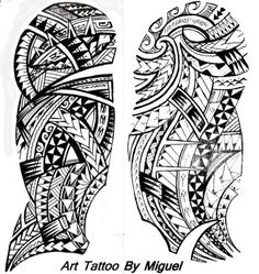 Miguel's Polynesian Half Sleeve Tattoo Design