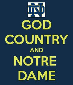 "GOD, COUNTRY, NOTRE DAME. Like the Irish? Be sure to check out and ""LIKE"" my Facebook Page https://www.facebook.com/HereComestheIrish Please be sure to upload and share any personal pictures of your Notre Dame experience with your fellow Irish fans!"