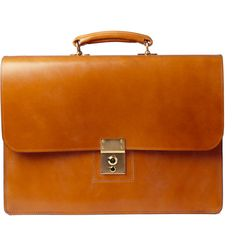 All Men need a briefcase.    Swaine Adeney Brigg briefcase in tan bridle leather, a front gold lock, leather handle and two large internal compartments. This stylish work bag is sure to make a statement; an investment style that will age and soften with wear for a unique appearance.    Blessings    Courtesy: Mr Porter