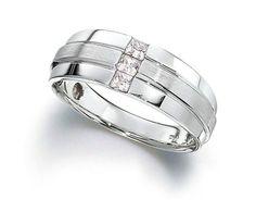 I. B. Goodman men's 10k white gold ring with diamonds; $1,779 #IBGoodman #whitegold #diamonds