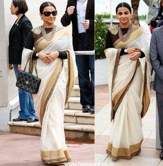 Vidya Balan Cannes Bollywood Replica Saree - Bollywood Sarees - Women | Zakasi.com