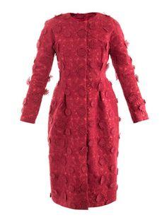 GIAMBATTISTA VALLI COUTURE Floral embroidered-silk coat
