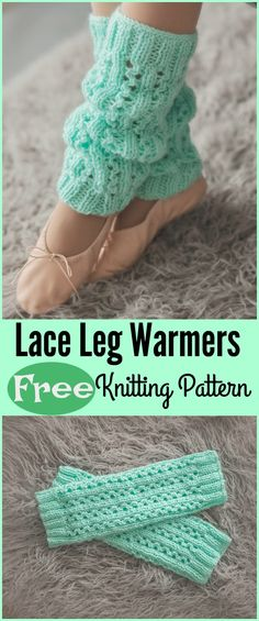Lace Leg Warmers Free Knitting Pattern #freepattern #knitting