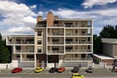 Rendering di esterni, edificio residenziale