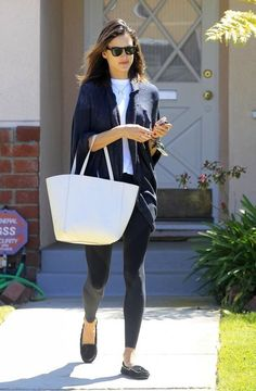 Alessandra Ambrosio Suede Loafers