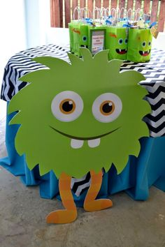 Monster Themed Boys Birthday Bash Favor Table Ideas