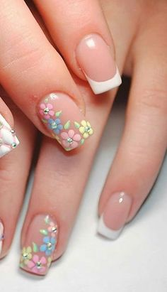 Pin on hair ideas Pin on hair ideas Frensh Nails, Nail Manicure, Pink Nails, Pedicure Nail Art, Polka Dot Nails, Classy Nails, Fancy Nails, Simple Nails, Nail Art Designs Videos