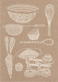 A commission for both print and web to produce a collection of hand drawn images to illustrate a series of workshops being run by Hobbs House Bakery. The brief also required a map of the UK as well as the Hobbs House Bakery/Butchery shopfront . Recipe Drawing, Food Sketch, Georgia, Pastry Art, Restaurant Concept, Illustrations And Posters, Design Crafts, Vintage Ads, Graphic Illustration