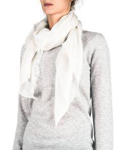 Kaschmir Schal Soft weiss front Fashion, Pink, Cashmere, Scarves, Moda, Fashion Styles, Fasion