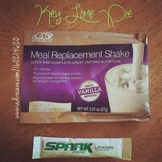 Advocare Key Lime Pie Shake! Limeade spark + Vanilla meal replacement