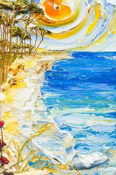24x36 - Acrylic on Canvas - Seascape Series- Artist, Justin Gaffrey
