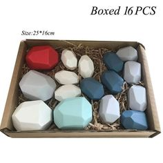 Nordic Style Stacking Rainbow Game - 16pcs boxed
