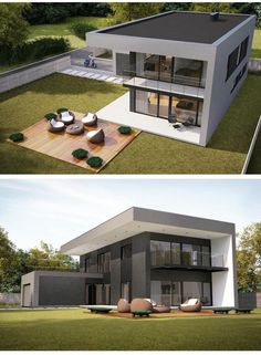 38 Stunning Modern Container House Design Ideas for Comfortable Life Every Day ⋆ neverendingfood.me 38 Stunning Modern Container House Design Ideas for Comfortable Life Every Day ⋆ neverendingfood. Home Building Design, Building A House, Modern Architecture House, Architecture Design, Modern Villa Design, Casas Containers, Bungalow House Design, Dream House Exterior, Modern House Plans